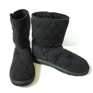 UGG #3176 Mountain Quilted Short Boots BLACK 6
